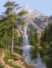 Картина по номерам 40*50 - Горный водопад