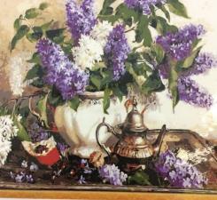 Картина по номерам Сирень и ромашки