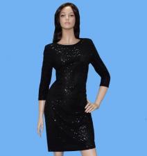 Платье прямое /черное