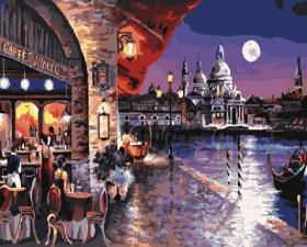 Картина по номерам 40х50 см Ночная Венеция