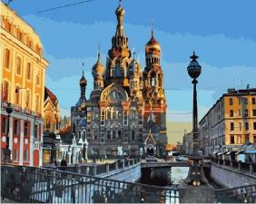 Картина по номерам  40*50 см GX21214 Санкт-Петербург