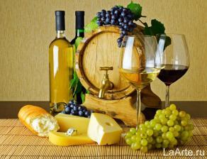 картина по номерам 40*50 Вино и виноград