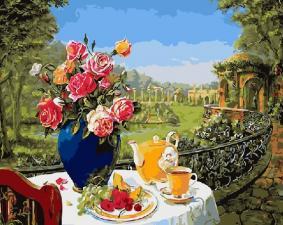 "Картина по номерам 40х50"" Завтрак на террасе"" худ.Роберт Пажман"