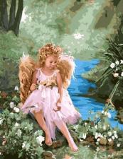 """Картина по номерам 40х50 """"Девочка ангел"""" худ. Лиза Джейн"""