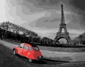 Картина по номерам 40Х50 Париж