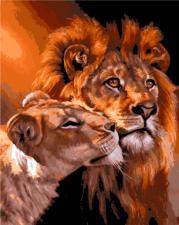 Картина 40Х50 Семья львов.