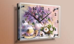 Часы под стеклом 20Х25см