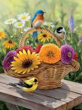 Картина по номерам 40Х50 Яркие птахи.