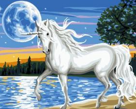 Картина по номерам 40Х50 Единорог.