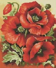 Алмазная мозаика 30Х40см Красные маки.