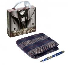 """Подарочный набор """"Любимому мужу"""": шарф, ручка"""