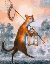 Картина по номерам 40Х50см  Кот и ангел.