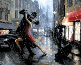 Картина по номерам 40Х50 см.Танец под дождем.