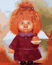 Картина по номерам 40Х50  Ангел с пироженым.