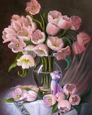 Картина по номерам 40Х50 Розовый букет.